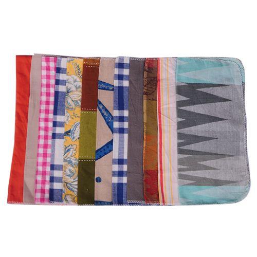 Adithya Kitchen Cloth - Multicolour, Cotton, 35 cm x 35 cm Pack of 12