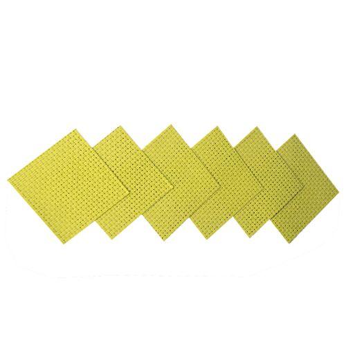 Adithya PVC Heat Pad - Yellow, 18 cm x 18 cm Pack of 6