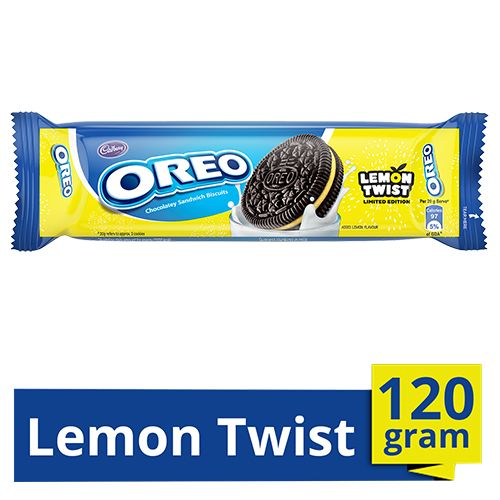 Cadbury Oreo Creme Biscuit - Lemon Twist, Limited Edition, 120 g
