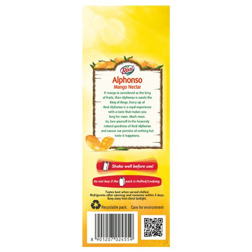Real Fruit Juice - Alphonso Mango, 1 L