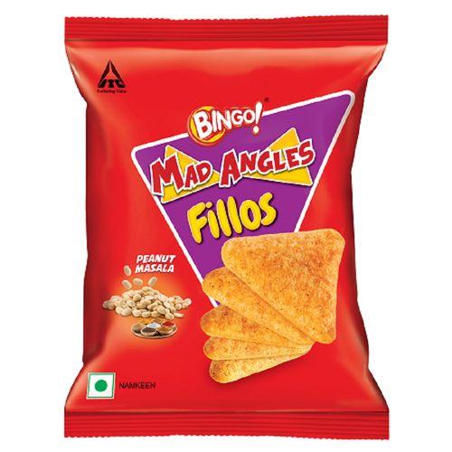 Bingo Namkeen - Mad Angles, Fillos, Peanut Masala, 35 gm