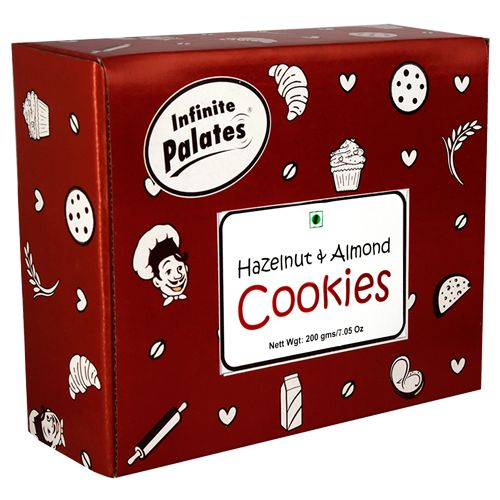 Infinite Palates Cookies - Hazelnut & Almond, 200 gm