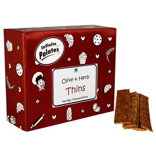 Infinite Palates Thins - Olive & Herb, 100 gm
