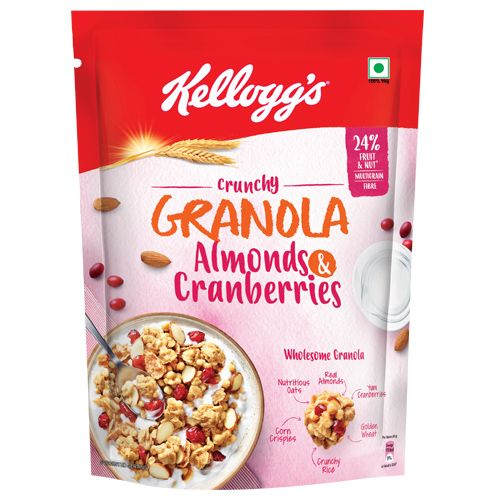 Kelloggs Crunchy Granola Almonds and Cranberries, 460 gm