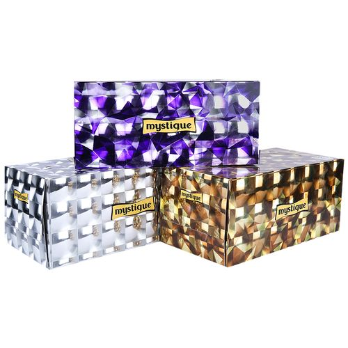 Mystique Face Tissue - 2 ply 180 Pulls 360 sheet Each Box, 180 Pulls Pack of 3