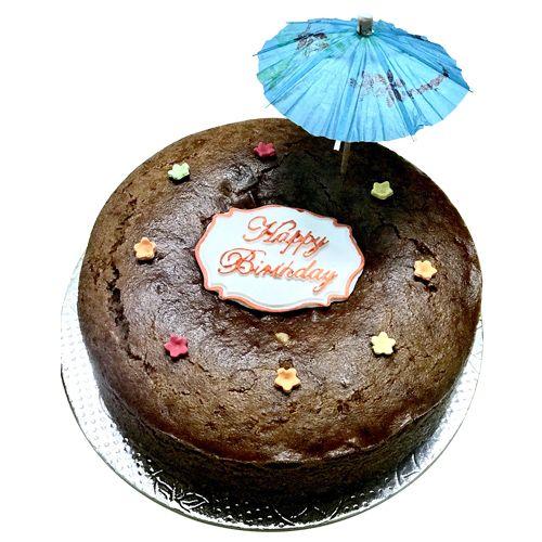 Buy Bhealthy Walnut Birthday Cake Organic Jaggery Wholewheat Eggless Sugarfree 500 Gm Online At Best Price