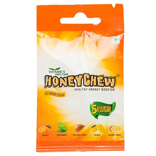 Nature's Nectar Honey Chew - Sachet With Five Variants, 20 g Pack of 4