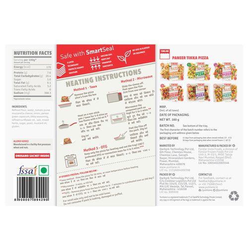 Yumlane Pizza - Paneer Tikka, 160 g