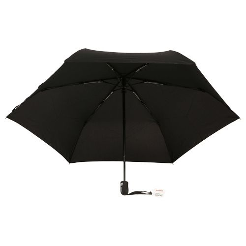 Parachase Umbrella - Three Fold, Auto Open & Close, Windproof, Plain Black Coloured, 1 pc