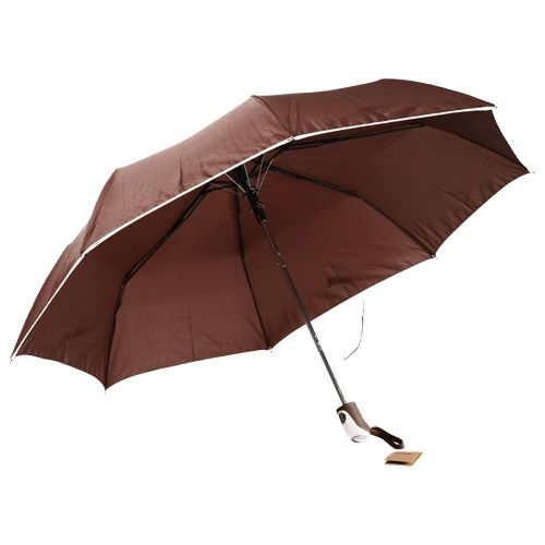 Parachase Umbrella - Three Fold, Windproof, Plain Brown Coloured, 1 pc