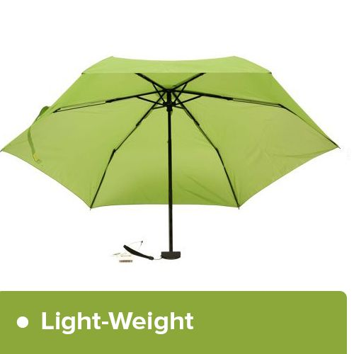 Parachase Umbrella - Three Fold, Windproof, Pastel Green Coloured, 1 pc