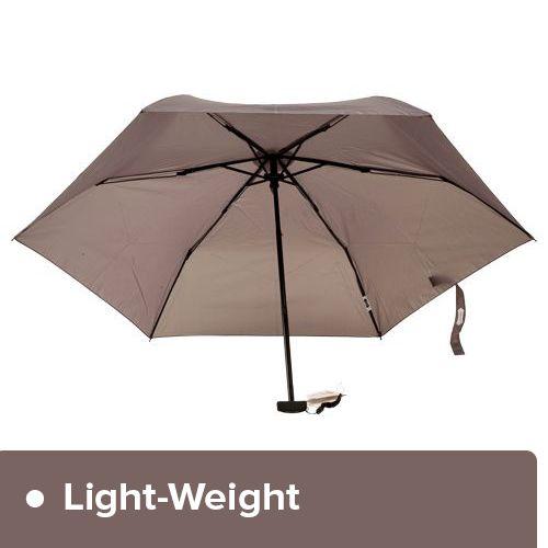 Parachase Umbrella - Three Fold, Windproof, Grey Coloured, 1 pc