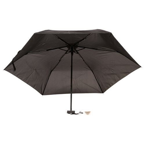 Parachase Umbrella - Three Fold, Windproof, Black Coloured, 1 pc