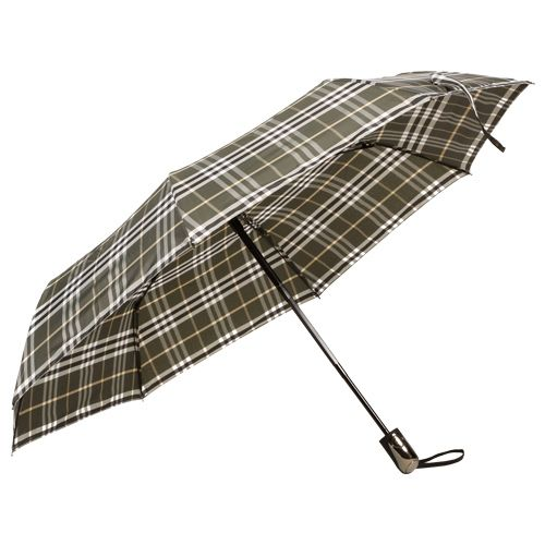 DP Umbrella - Three Fold, Auto Open & Close, Windproof, Burberry Grey, 1 pc