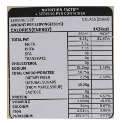 Raw Pressery Almond Milk - Cacao, Lactose Free, Dairy free, Vegan, 1 L