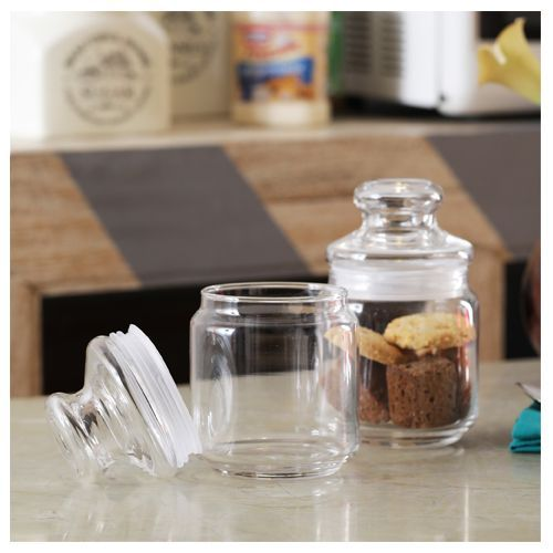 Ocean Pop Jar - with Glass Lid, 500 ml Set of 6