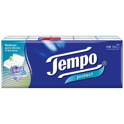Tempo Protect Handkerchief - 4 Ply, 10 packs