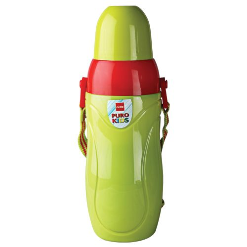 Cello Water Bottle - Puro Kids, Lemon Green, 600 ml