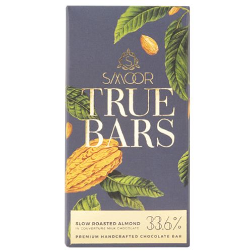 Smoor True Bar - Slow Roasted Almond, With Milk Chocolate, 33.6%, 80 g