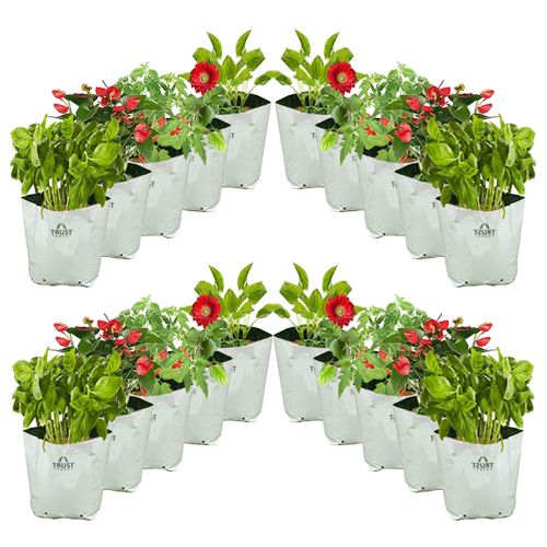 Trust Basket Grow Bags - Poly, UV Stabilized, Large, 20 pcs