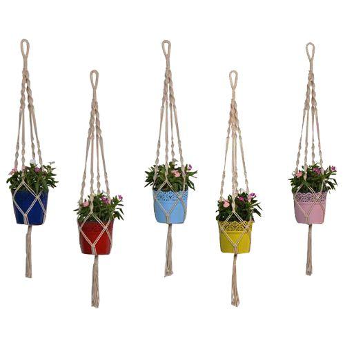 Trust Basket Lace Planter - With Contemporary Hanger, 5 pcs