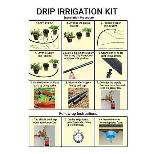 Trust Basket Drip Irrigation Kit - For 50 Plants, 1 pc