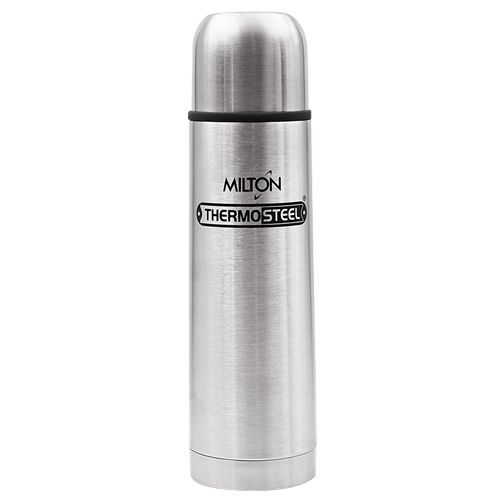 Milton Water Flask - Insulated Thermosteel, Flip Lid , Silver, 1 L