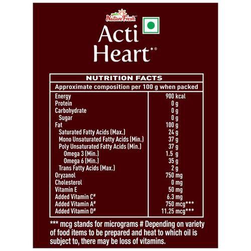 Nature Fresh Oil - Edible, Acti Heart, 1 L Pouch