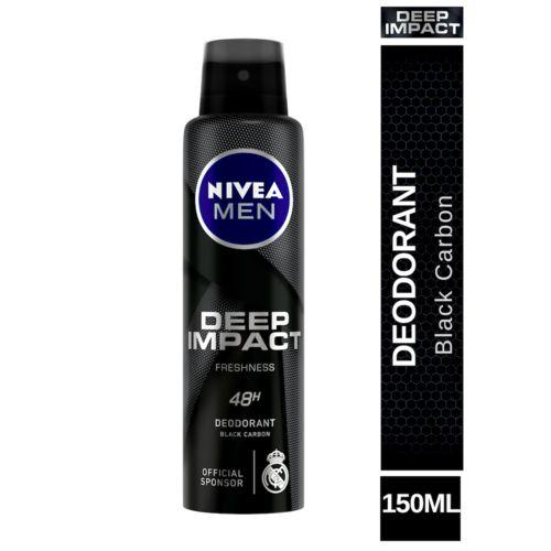 Nivea Deep Impact Freshness Deodorant For 48h Freshness With Black Carbon, 150 ml
