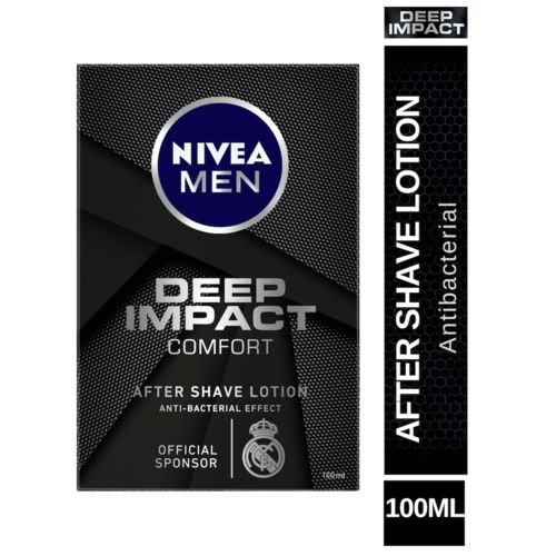 Nivea Deep Impact Comfort After Shave Lotion - Antibacterial Effect, 100 ml