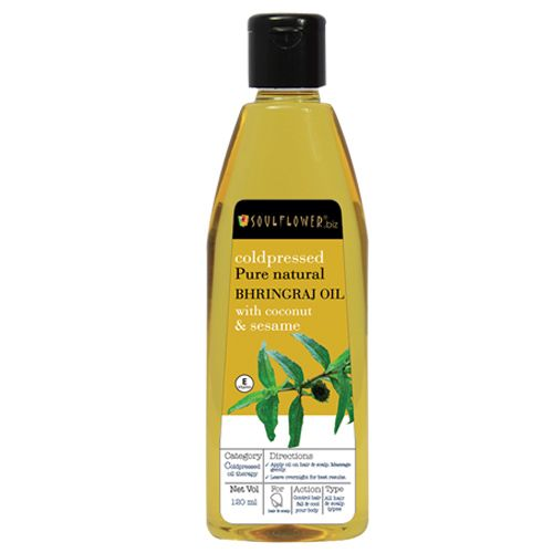 Soulflower Coldpressed Bhringraj Carrier Oil, 120 ml