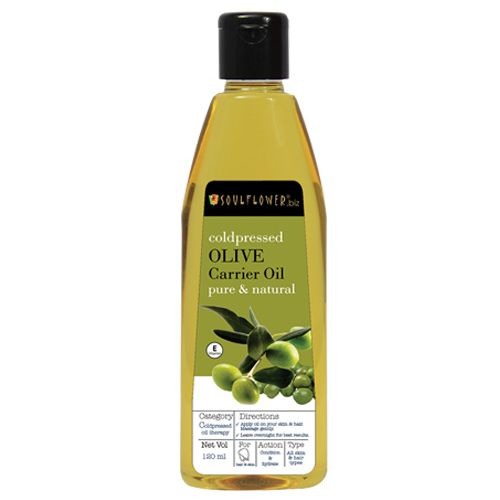 Soulflower Coldpressed Olive Carrier Oil, 120 ml
