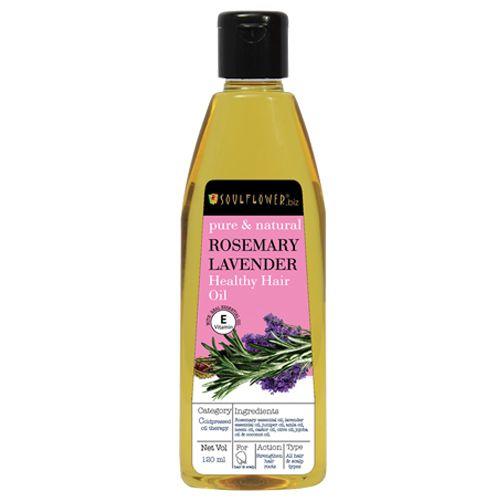 Soulflower Rosemary Lavender Healthy Hair Oil, 120 ml