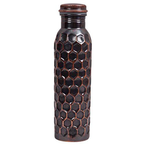 Tallboy Bottle - Copper, Black, Hammered, 1 lt