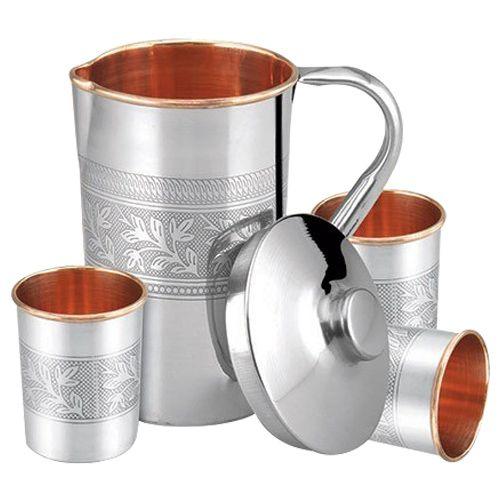 Tallboy Jug & Tumbler - Copper, Steel, 5 pcs