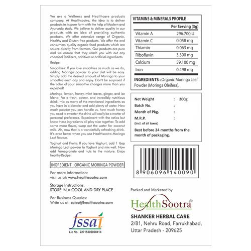 Healthsootra Powder - Moringa Leaf, 200 g