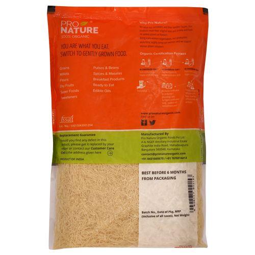 Pro Nature Organic Vermicelli - Sooji, 500 gm