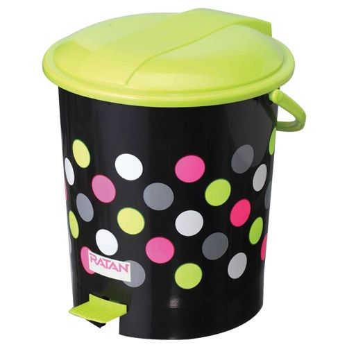 Buy Ratan Pedal Waste Dustbin Plastic Medium Black