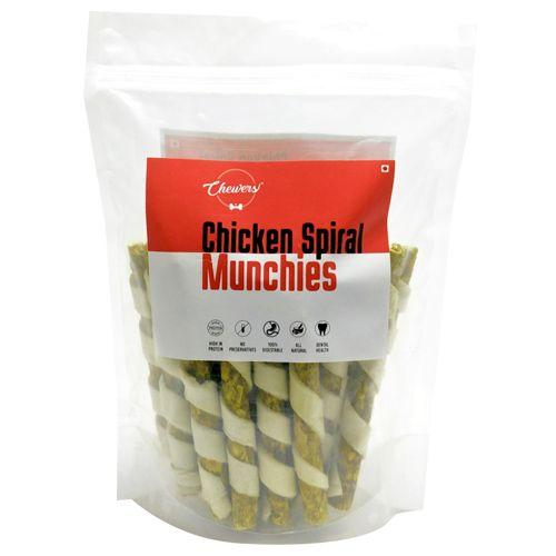 Chewers Dog Treat - Chicken Spiral Munchies, 400 gm