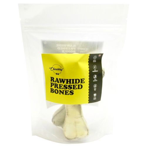 Chewers Dog Treat - Rawhide Pressed Bones, 5 Inches, 220 gm Contains 2 pcs