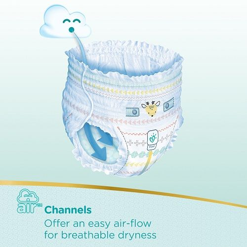 Pampers  Diapers - Extra Large Size, Premium Care Pants, 19 pcs