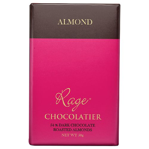 Rage Chocolate - 54% Dark, Roasted Almond, 50 gm