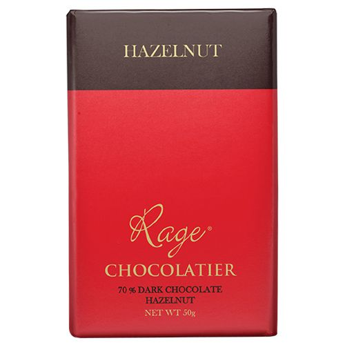 Rage Chocolate - 70% Dark, Hazelnut, 50 gm
