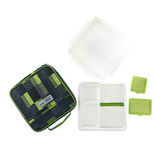 Pinnacle Pinnacle Lunch/Tiffin Box - Insulated, With Bag, Green, Penta Go,  5 pcs