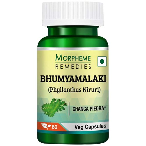 Morpheme Remedies Capsules - Bhumyamlaki, Phyllanthus Niruri, 500 mg, Veg, 60 pcs