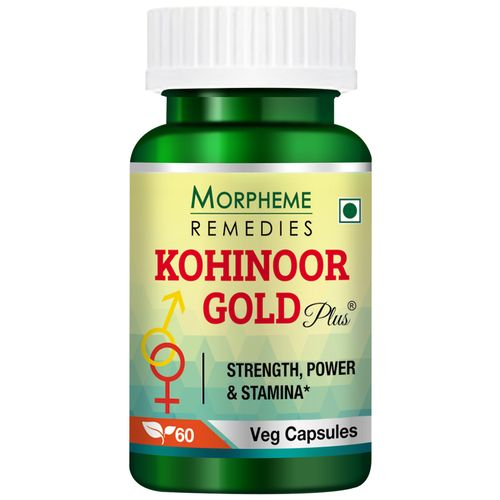 Morpheme Remedies Capsules - Kohinoor Gold Plus, 500 mg, Veg, 60 pcs