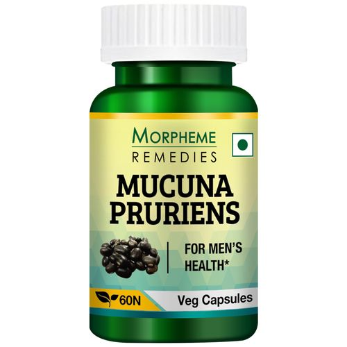 Morpheme Remedies Capsules - Mucuna Pruriens, Kapikachhu, 500 mg, Veg, 60 pcs