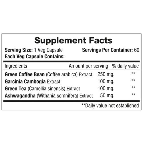 Morpheme Remedies Capsules - Green Coffee+, Supports Weight Management, Veg, 60 pcs