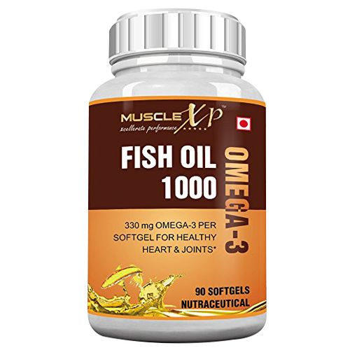 MuscleXP Softgels - Fish Oil 1000 mg, Omega-3 330 mg, 90 pcs