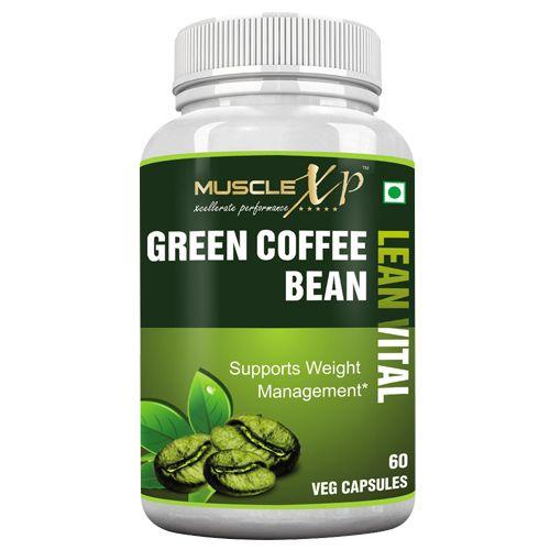 MuscleXP Capsules - Green Coffee Bean, Lean Vital, Veg, 60 pcs